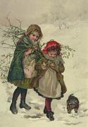 1886 Posters - Illustration from Christmas Tree Fairy Poster by Lizzie Mack