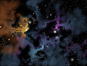 Starforming Prints - Illustration Of A Gaseous Nebula Print by Ron Miller