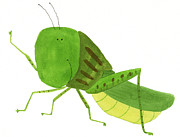 Grasshopper Posters - Illustration Of A Grasshopper Poster by Michiko Maeda