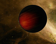 Tidal Forces Prints - Illustration Of A Hot Jupiter Called Hd Print by Stocktrek Images