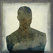 Portraits Prints - Illustration of a human bust. Silhouette Print by Bernard Jaubert