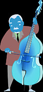 Performing Arts Digital Art Prints - Illustration Of A Man Playing A Cello Print by Hidehiro Ueoka