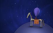 Illustration Of A Martian Riding Print by Vlad Gerasimov