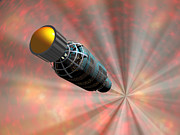 Space Exploration Digital Art - Illustration Of A Spacecraft Travelling by Walter Myers