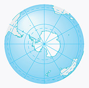 Cartography Digital Art - Illustration Of Antarctica On Globe by Dorling Kindersley