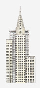 Chrysler Building Digital Art - Illustration Of Chrysler Building, New York City by Dorling Kindersley
