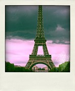 Depictions Posters - Illustration of Eiffel Tower Poster by Bernard Jaubert