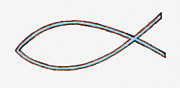 Pen Digital Art - Illustration Of Fish Symbol (ichthys) As Used By Early Christians by Dorling Kindersley