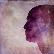 Portraits Photos - Illustration of human head. Silhouette by Bernard Jaubert