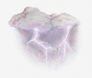 Storm Cloud Digital Art - Illustration Of Lightning by Dorling Kindersley