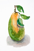 Sweet Spot Prints - Illustration of pear  Print by Regina Jershova