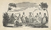 Slavery Framed Prints - Illustration Of The Beatings Given Framed Print by Everett