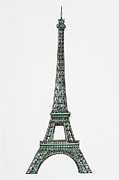 Paris Digital Art Prints - Illustration Of The Eiffel Tower Print by Dorling Kindersley