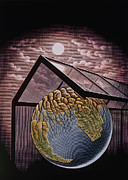 Greenhouse Effect Prints - Illustration Of The Greenhouse Effect Print by Bill Sanderson