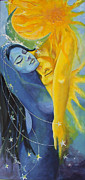Celestial Painting Posters - Ilusion from Impossible Love series Poster by Dorina  Costras
