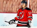 Nhl Hockey Drawings Prints - Ilya Kovalchuk    Print by Dave Olsen