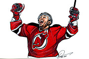 Stanley Cup Playoffs Framed Prints - Ilya Kovalchuk Framed Print by Dave Olsen