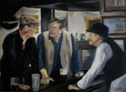 John Wayne Paintings - Im buying the drinks. by Gary Boyle