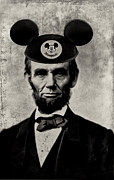 Abraham Lincoln Framed Prints - Im Going to Disneyland Framed Print by Bill Cannon
