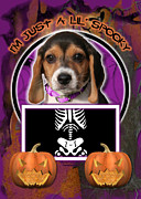 I'm Just A Lil' Spooky Beagle Puppy Print by Renae Laughner