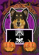 Collies Digital Art Posters - Im Just a Lil Spooky Collie Poster by Renae Frankz