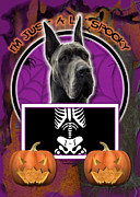 Great Dane Digital Art - Im Just a Lil Spooky Great Dane by Renae Frankz