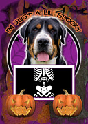 Greater Swiss Mountain Dog Prints - Im Just a Lil Spooky Greater Swiss Mountain Dog Print by Renae Frankz
