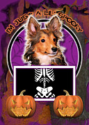 Puppies Digital Art - Im Just a Lil Spooky Sheltie Puppy by Renae Frankz