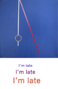 Abstract Drawings Framed Prints - Im Late IM Late IM LATE Framed Print by Loraine LeBlanc