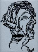 Face Drawings - Im Not Listening by Karen Musick