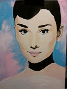 Audrey Hepburn Painting Originals - Im Possible by Angela Schwengler