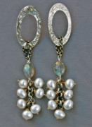 Labradorite Prints - Im So Fabulous Earrings Print by Mirinda Kossoff