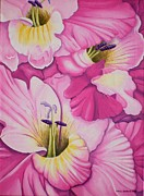 Gladiola Paintings - Im So GLADiolas by Carol Sabo