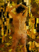 Nudes Digital Art Acrylic Prints - Im Waiting For You    Female Acrylic Print by Kurt Van Wagner