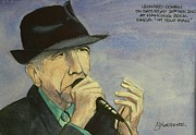 Leonard Cohen Posters - Im Your Man Poster by Tony Northover