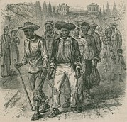 Imprisonment Prints - Image Depicts An 1815 Slave-coffle Print by Everett