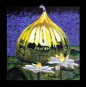 White Water Lilies Framed Prints - Image Number Eleven Framed Print by John Lautermilch