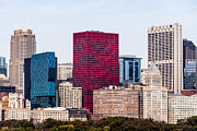 Santa Fe Photos - Image of Downtown Chicago City Office Buildings by Paul Velgos
