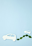 Electric Vehicle Posters - Image Of Eco Cars Poster by sozaijiten/Datacraft