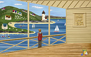 New England Village Posters - Imagine Poster by Anne Klar