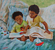 African American Paintings - Imagine by Charon Rothmiller