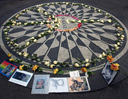 Yoko Ono Posters - Imagine in Strawberry Fields Poster by Chris Ann Wiggins