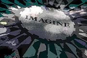 John Lennon  Art - Imagine by Kelley King
