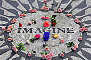 John Lennon  Art - Imagine Mosaic by Randy Aveille