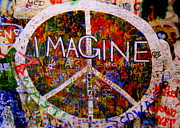 Peace Symbol Prints - Imagine Peace Print by Tam Graff