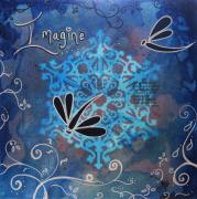 Inspirational Paintings - Imagine the Possibilities by MADART by Megan Duncanson