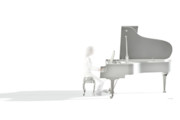 Grand Piano Prints - Imagine This Print by Daniel Bauer