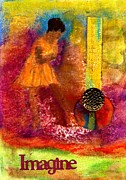 Religious Mixed Media Prints - Imagine Winning Print by Angela L Walker