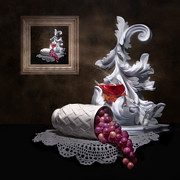 Wine Glass Posters - Imitation of Art Still Life Poster by Tom Mc Nemar