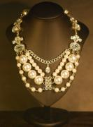 Bridal Jewelry Jewelry - Imitation Pearl and Crystal Necklace by Janine Antulov